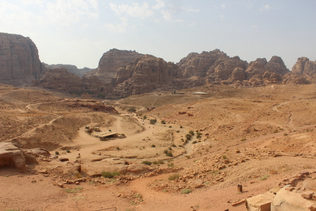 Martian landscapes surround Petra