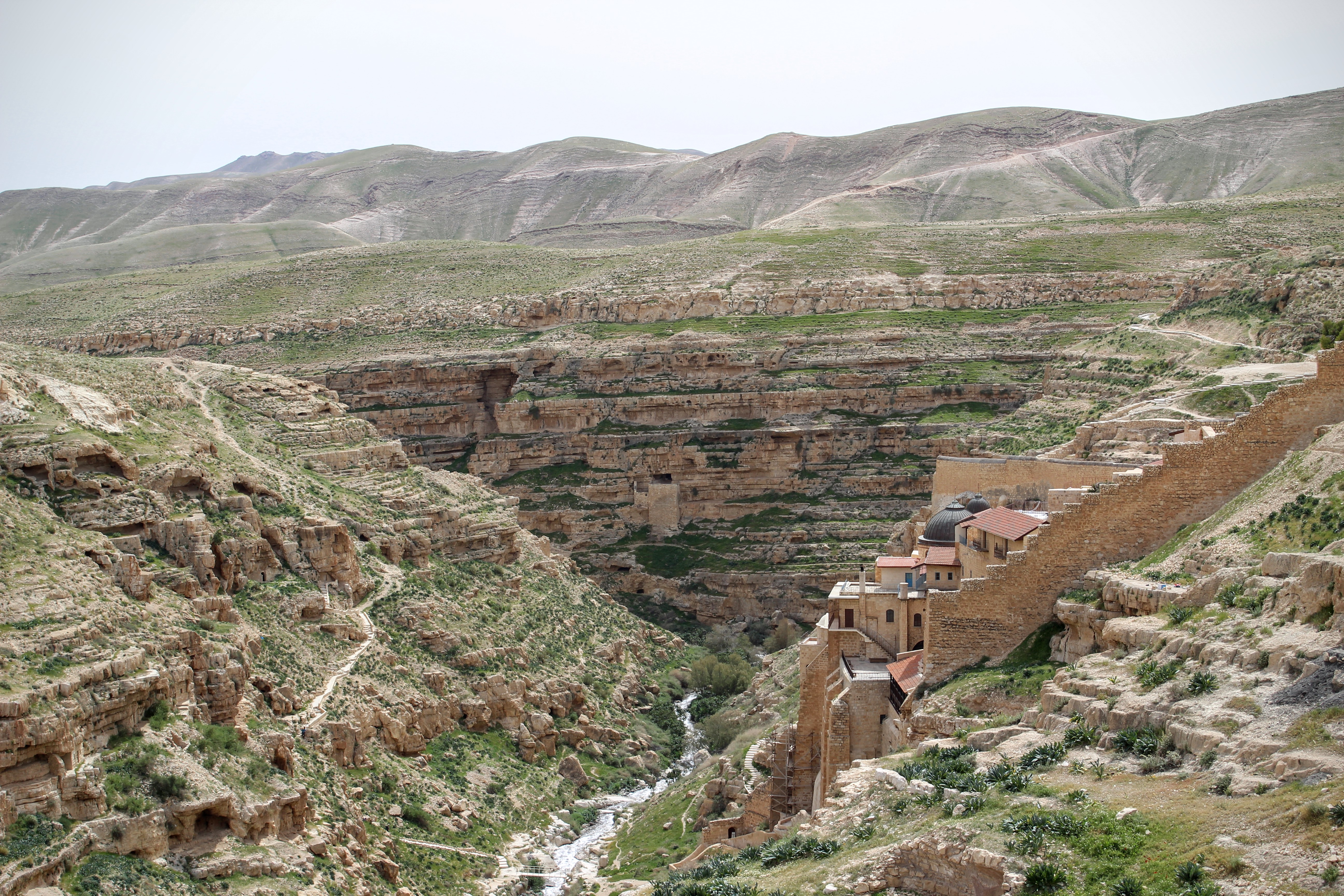 Mar Saba from the side