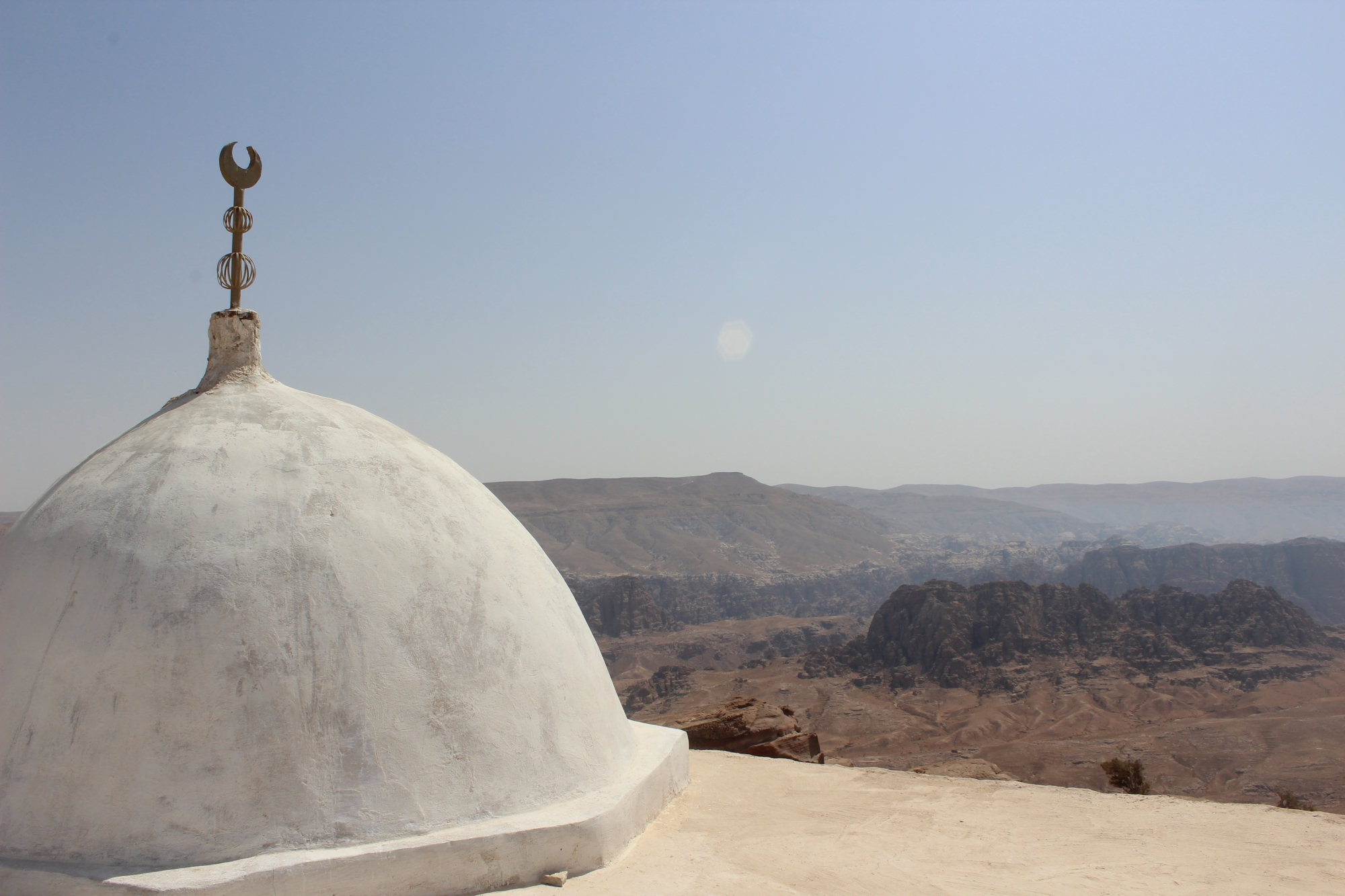 White dome of the Aaron shrine