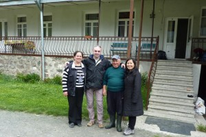 Our gracious hosts Nazi and Henry in Kazbegi