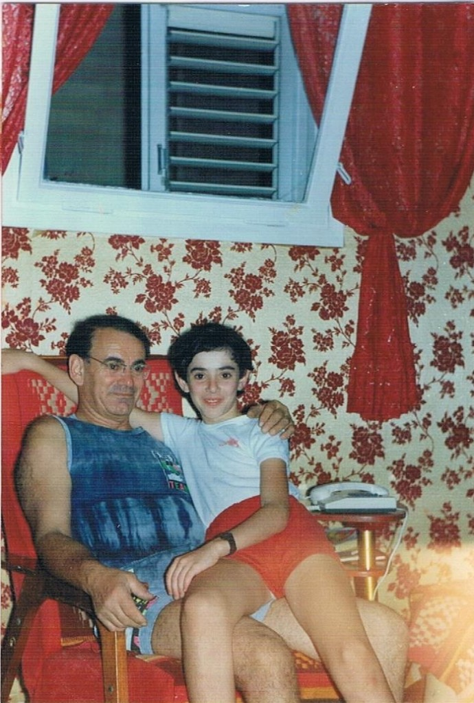 Me and my father. Haifa, 1993.