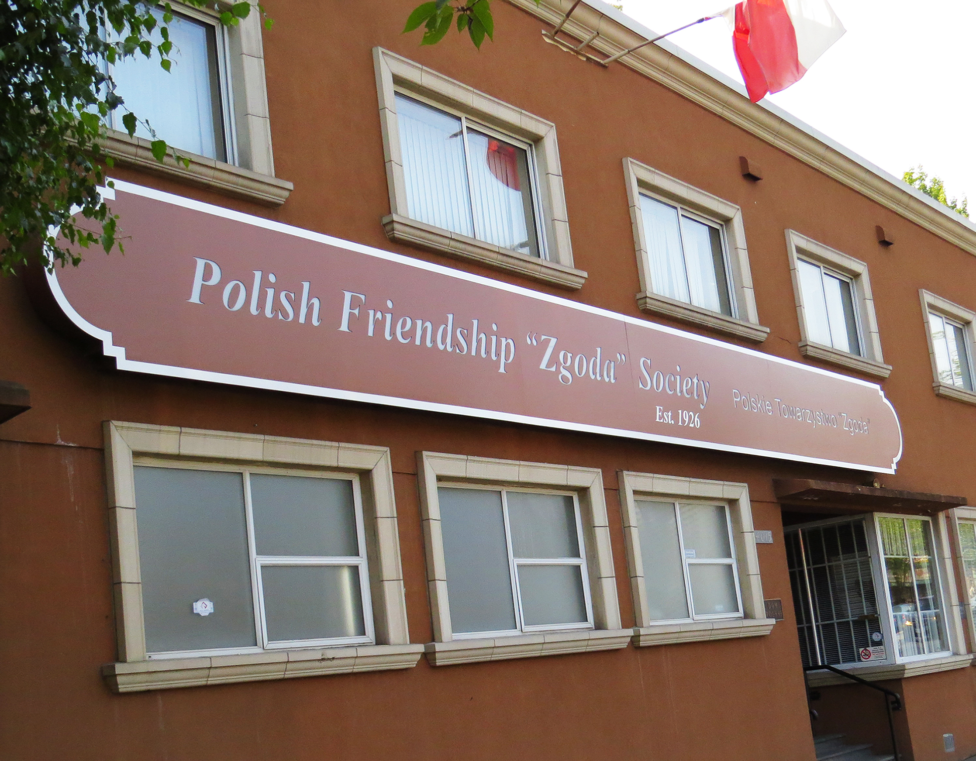 Polish Friendship Society on Fraser street