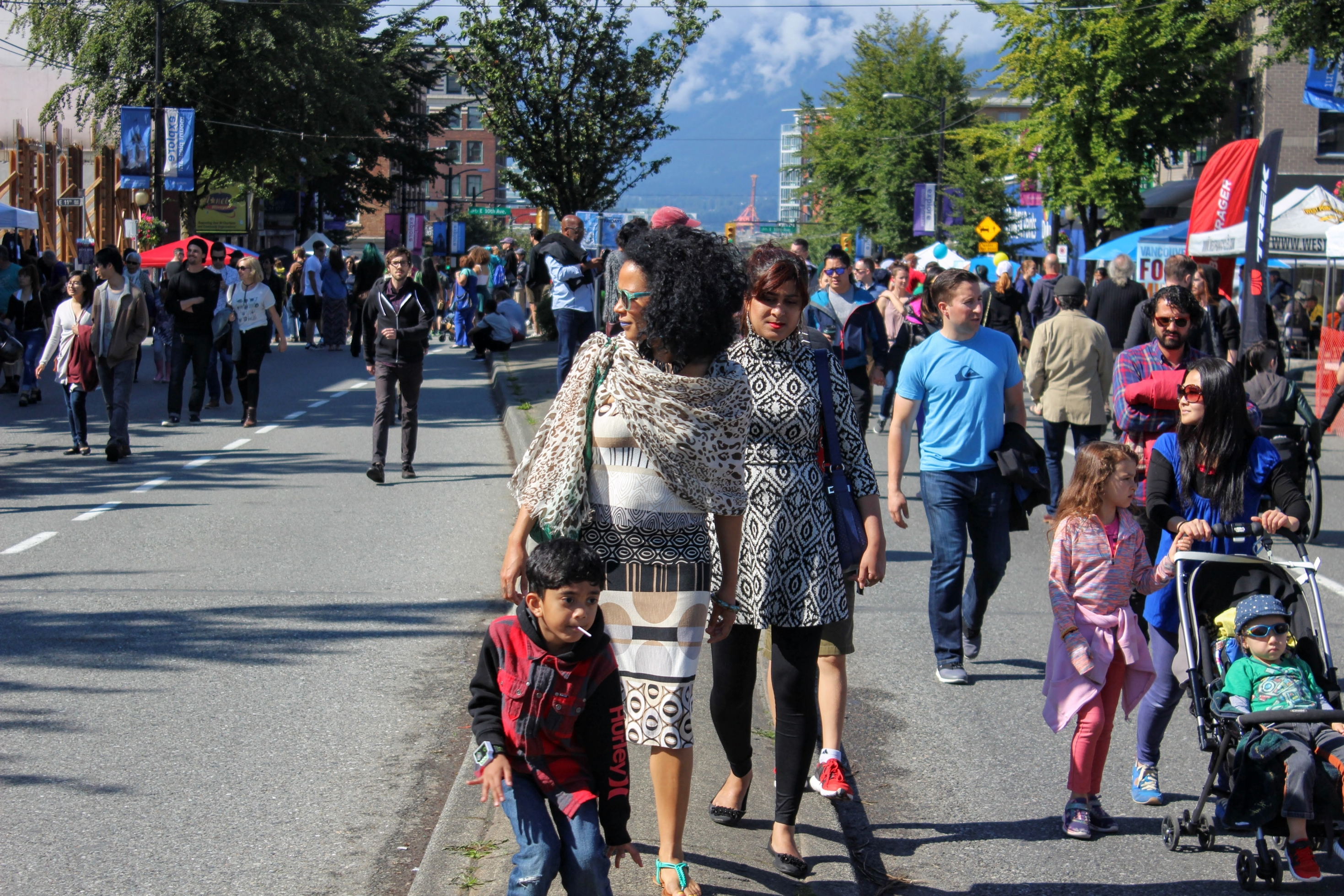 Car-free day celebration on Main street